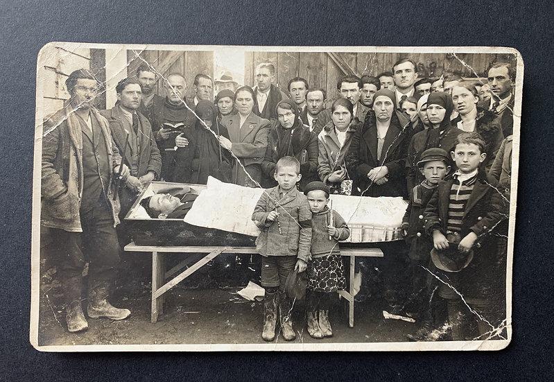 Sad Funeral Photo Postcard