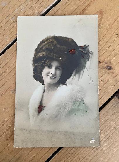 Hand tinted German Bromide Postcard