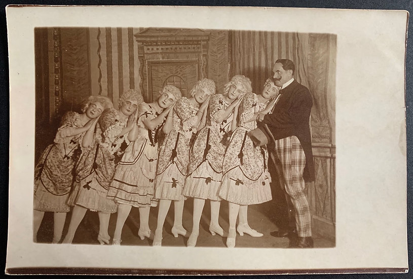 1918 Real Photo Postcard - Theatre Performance