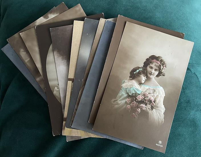 11 x European Print Art Nouveau Postcards