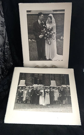 2 x 1940s Wedding Photographs - London, UK