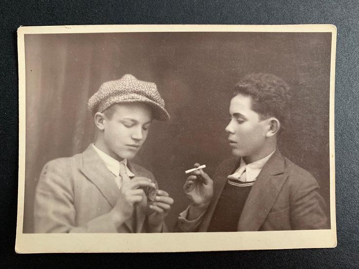 1932 Photo - 2 boys smoking
