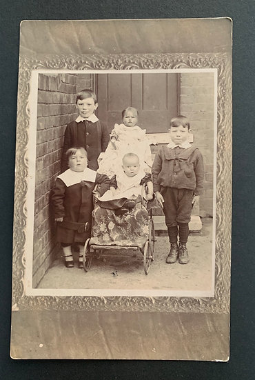 Early Postcard of Characterful Children