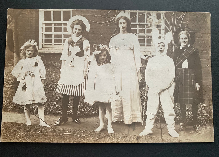 Early Postcard - Children in Dress Up