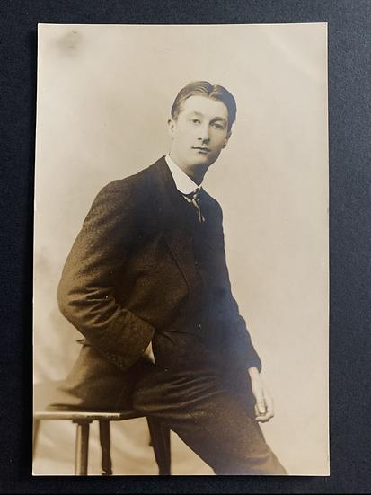 Real Photo Postcard of a Man