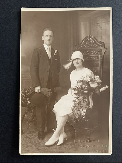 Wedding Couple Portrait c1930s