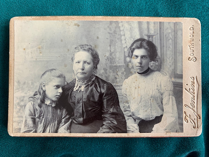 Posed Post Mortem Girl with Family