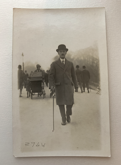 London Gentleman on a walk c1920s
