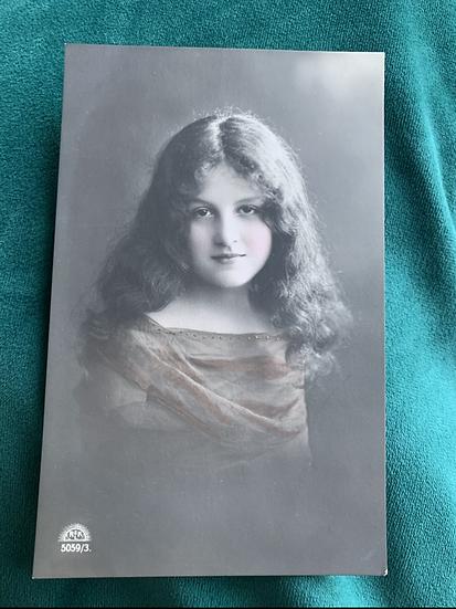Beautiful Regel & Krug Hand tinted Postcard