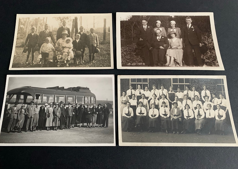 4 x 1930/40s Real Photo Postcards
