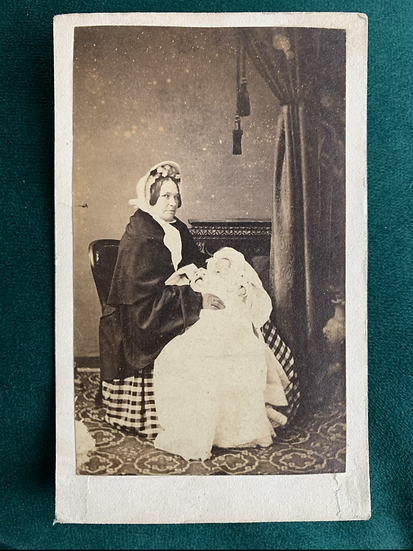 Sad Mother Post Mortem CDV