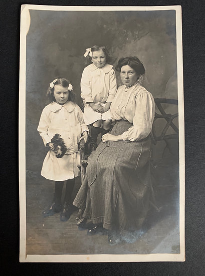 Mother & Daughters Early Postcard