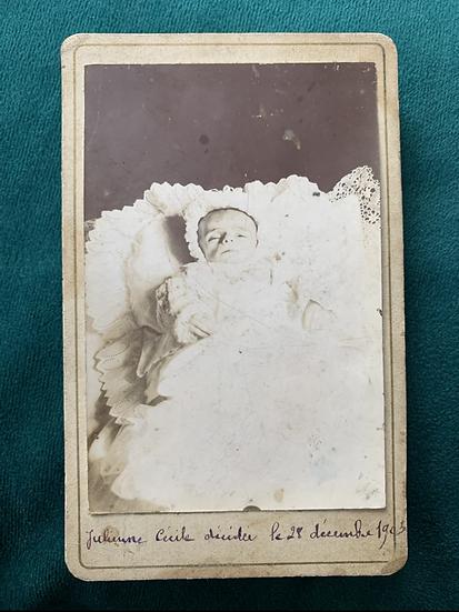 Julienne Cecile Post Mortem 1903