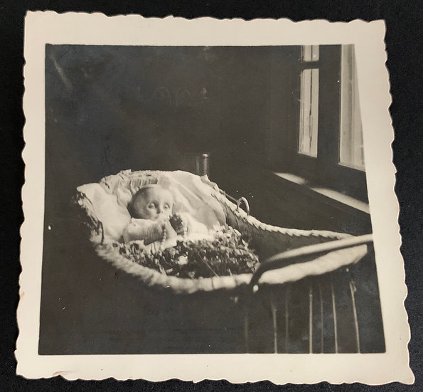 Very Small Post Mortem Photograph c1930s