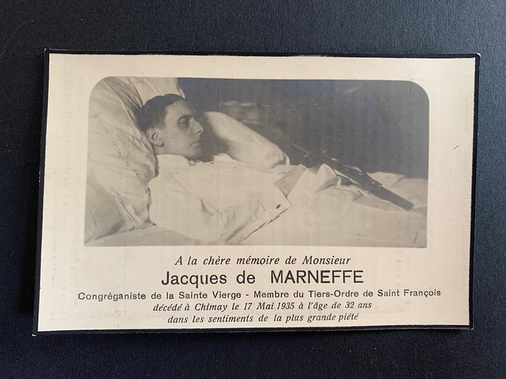 Post Mortem Memorial Card (Memento Mori)