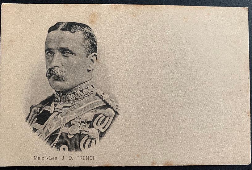 Mj Gen JD French Postcard