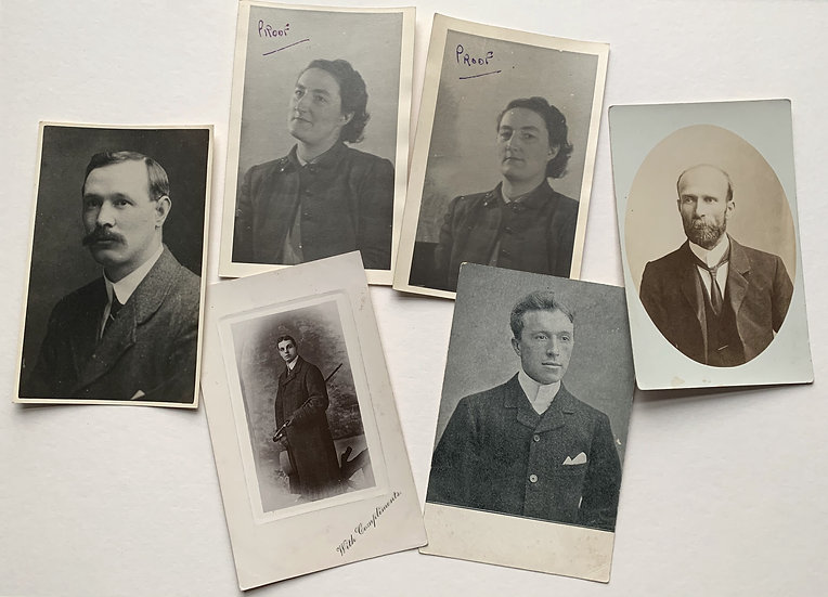 6x Real Photo Postcards - early 20th Century