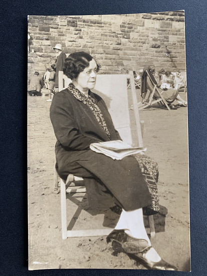 1920s Lady at the Seaside Postcard