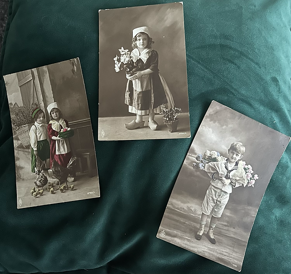 3 x Early Postcards of Children