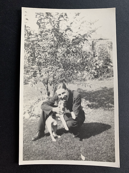 Man with a Dog Postcard