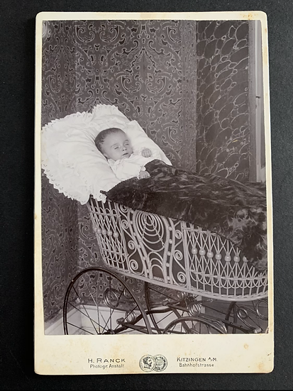 Post Mortem Baby Laid Out Cabinet Card