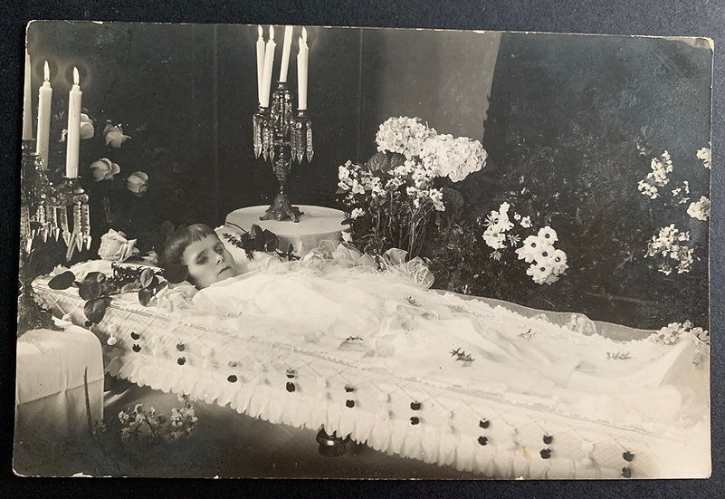 Post Mortem Young Woman Photo Postcard