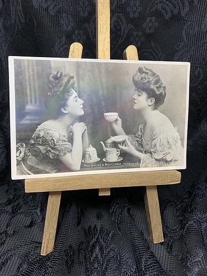 Gibson Girls - Real Photo Edwardian Postcard