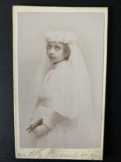Stunning Communion Girl c1895