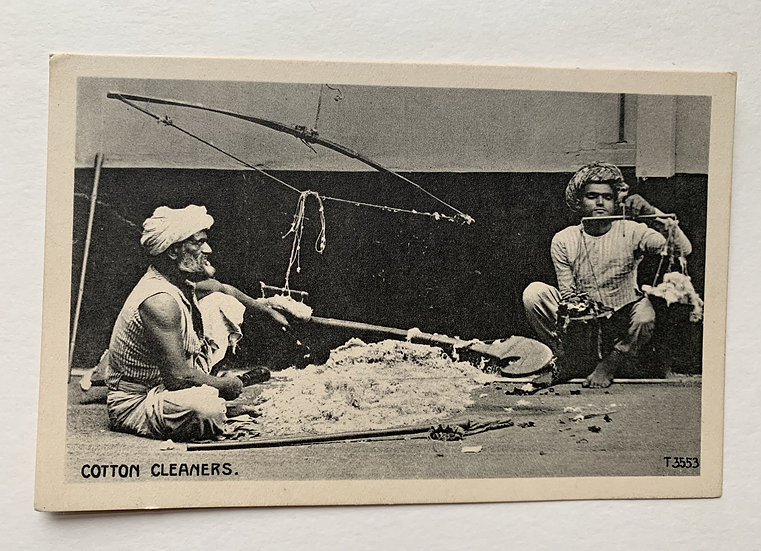 Cotton Cleaner in Calcutta - Early Postcard
