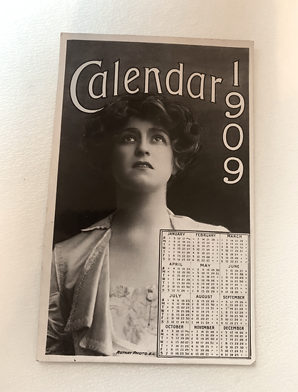 1909 Photo Calendar