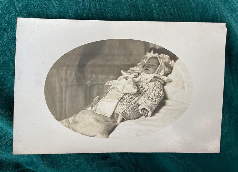 Post Mortem Baby RP Postcard