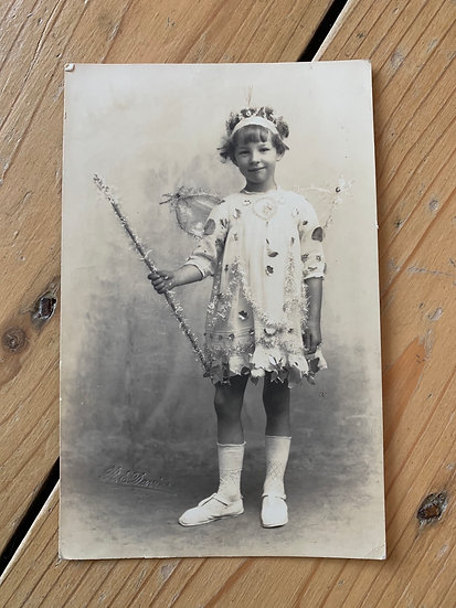 Evelyn Dressed Up as a Fairy - 1921