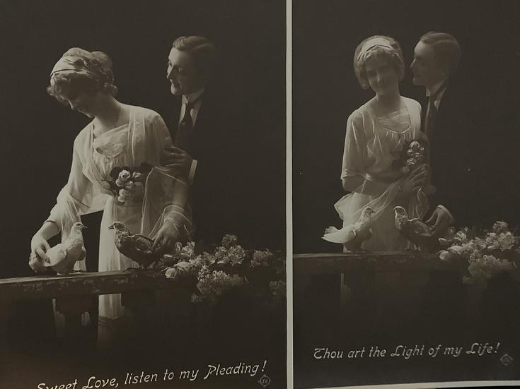 Set of Two Art Nouveau Real Photo Postcards