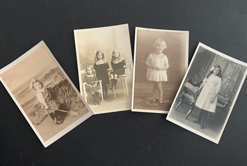 Set of 4 Edwardian Girls