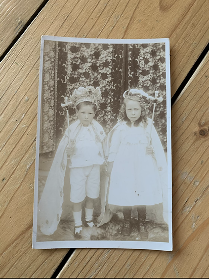 Young Children Dressed Up