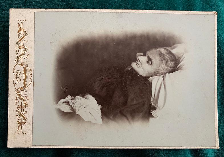 Post Mortem Cabinet Card - Older Lady