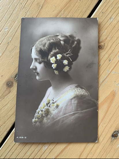 Beautiful Lady 1913 Postcard