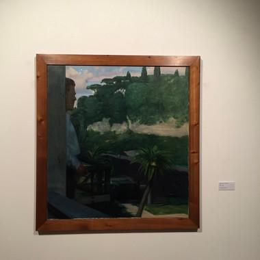 Piero Guccione, Autoritratto nel paesaggio, 1971