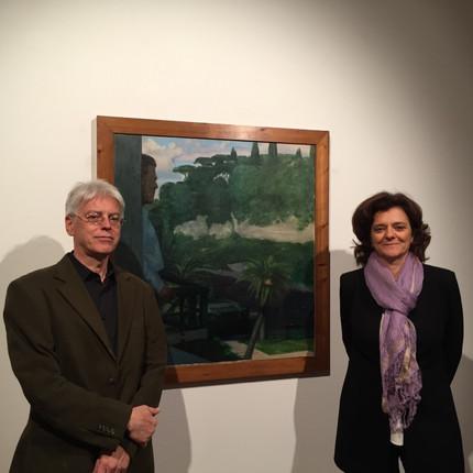 Il Direttore del Museo, Simone Soldini, e Paola Guccione
