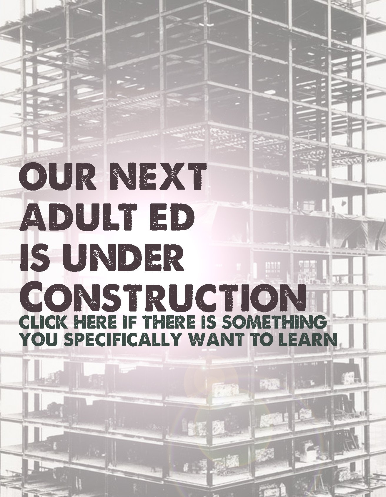 Adult Ed Under Construction