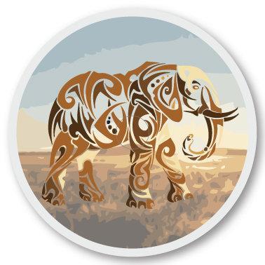 115 African elephant sticker (klistermärke till Freestyle Libre sensor)