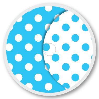 104 Blue & white sticker (klistermärke till Freestyle Libre sensor)
