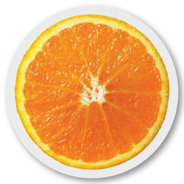 134 Fruit Orange sticker (klistermärke till Freestyle Libre sensor)