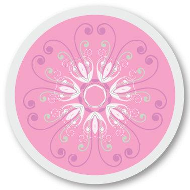 137 Pink pattern sticker (klistermärke till Freestyle Libre sensor)