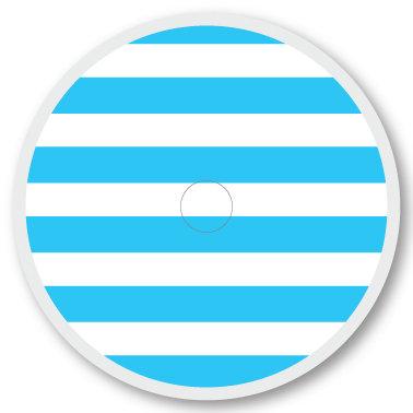 108 Blue and white stripe sticker (klistermärke till Freestyle Libre sensor)