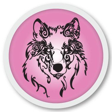 139 Pink Wolf sticker (klistermärke till Freestyle Libre sensor)