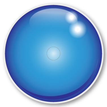 144 LS Blue sticker (klistermärke till Freestyle Libre sensor)