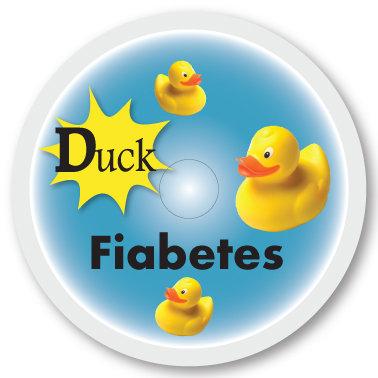 149 Duck Fiabetes sticker (klistermärke till Freestyle Libre sensor)