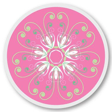 103 Pink green sticker (klistermärke till Freestyle Libre sensor)