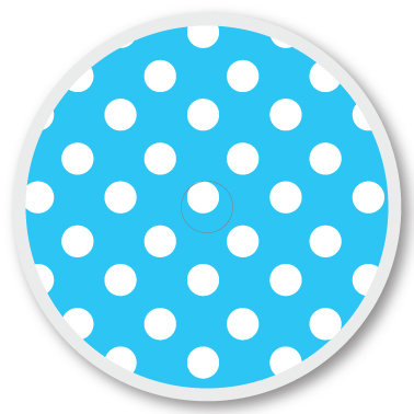 113 Blue and white dots sticker (klistermärke till Freestyle Libre sensor)